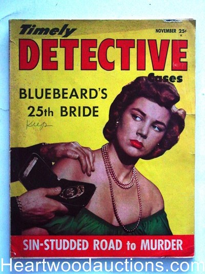 """Timely Detective"" Nov 1951 Blue Beard's 25th Bride"