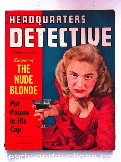 """Headquarters Detective"" September 1950"