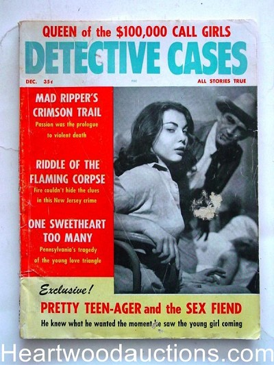 """Detective Cases"" December 1960 Queen of the Call Girls"