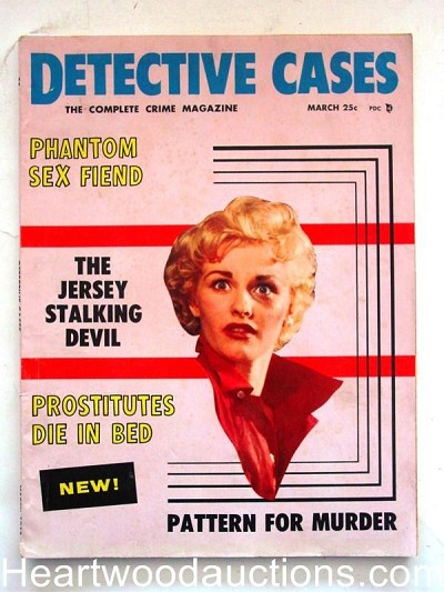 """Detective Cases"" March 1958 50's Sleaze"