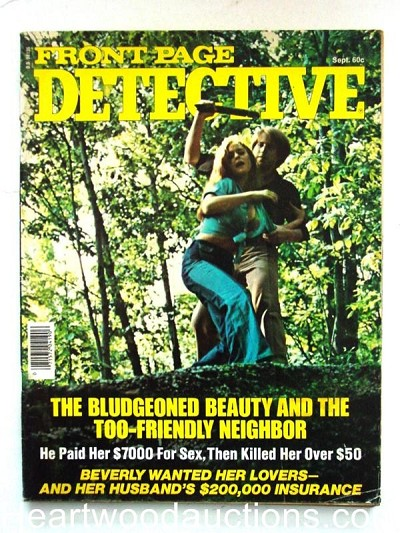 """Front Page Detective"" September 1976 Assault Cover"