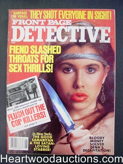 """Front Page Detective"" June 1986 Bad Girl Cover"