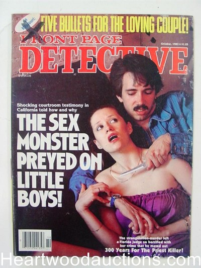 """Front Page Detective"" October 1983 Assault Cover"