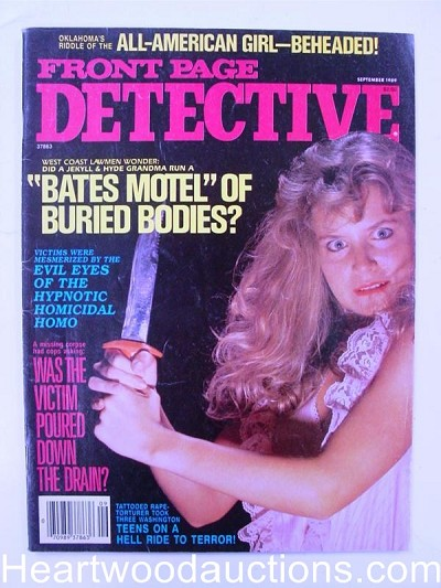 """Front Page Detective"" September 1989 Bad Girl Cover"