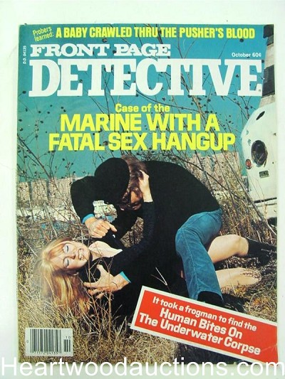 """Front Page Detective"" October 1977 Assault Cover"