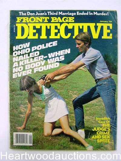 """Front Page Detective"" January 1978 Assault Cover"