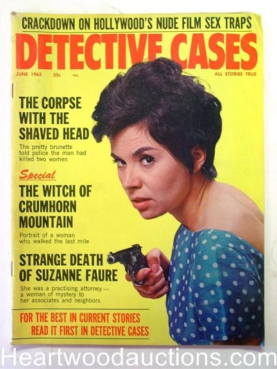 """Detective Cases"" June 1965 Bad Girl Cover"