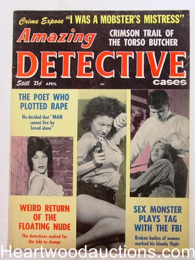 """Amazing Detective"" April 1963 Bad Girl cover"