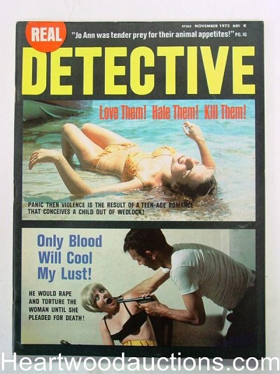 """Real Detective"" November 1972 Assault cover"