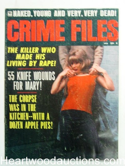 """Crime Files"" January 1971 Strangulation Cover"