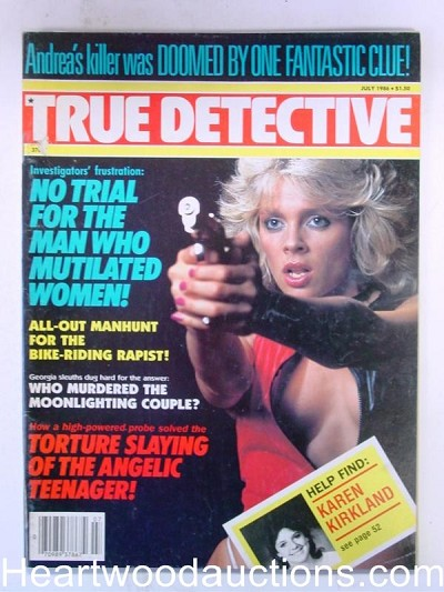 """True Detective"" July 1986 Bad Girl Cover Cleavage"