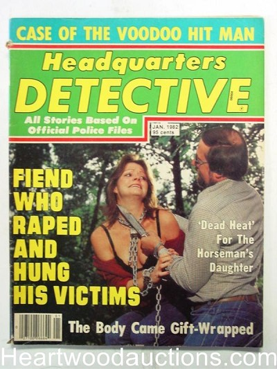 """Headquarters Detective"" January 1982 Bondage Cover"