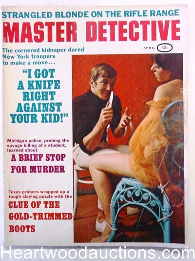 """Master Detective"" April 1969 Bondage Cover"