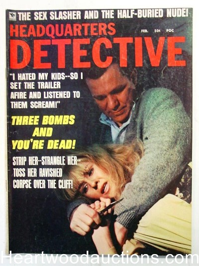 """Headquarters Detective"" February 1970 Assault Cover"