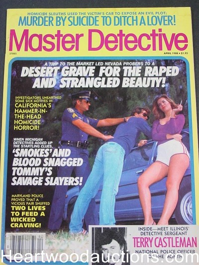 """Master Detective"" April 1988 Woman Smoking Cover"
