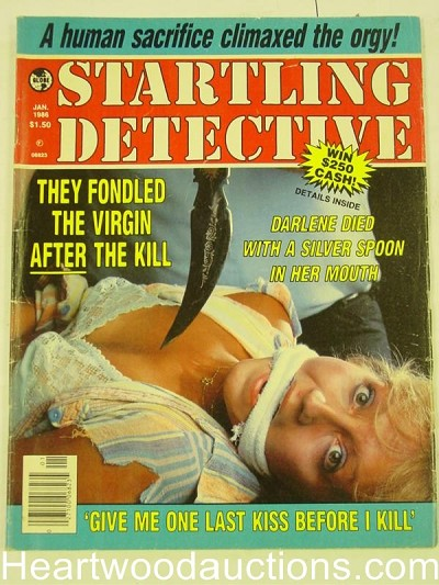 """Startling Detective"" January 1986 Bondage Cover"
