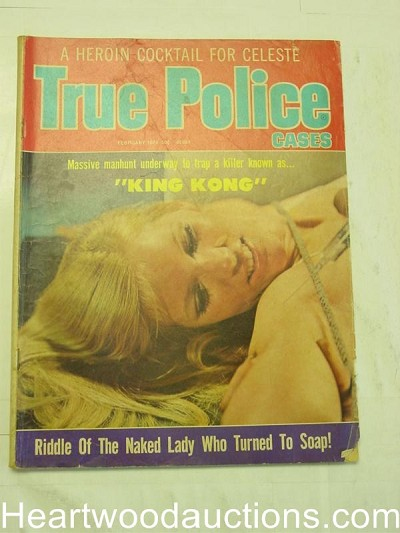 """True Police Cases"" Feb 1974 Bondage/Hypdermic Cover"