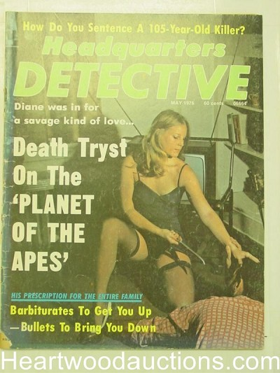 """Headquarters Detective"" May 1976 Bad Girl Cover"