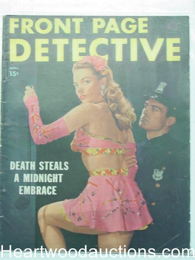 """Front Page Detective"" April 1948 Bad girl Cover"
