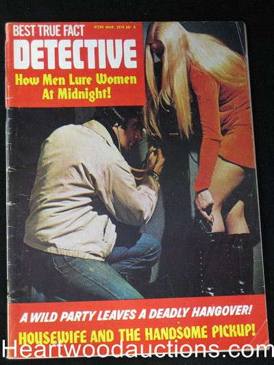 """Headquarters Detective"" March 1974 Bad Girl Cover"