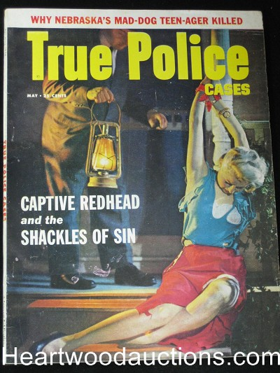 """True Police Cases"" July 1958 Bondage"