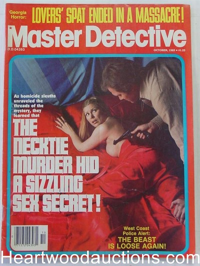 """Master Detective"" October 1983 Assault Cover"