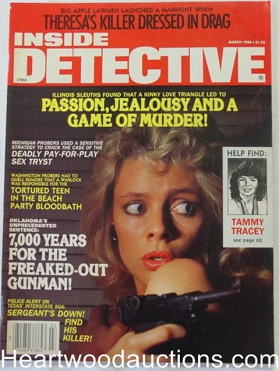 """Inside Detective"" March 1988 Bad Girl Cover"