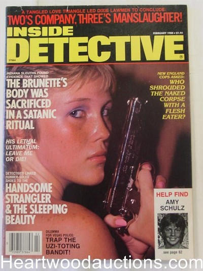 """Inside Detective"" February 1988 Bad Girl Cover"