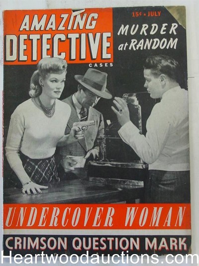 """Amazing Detective"" May 1943 Bad Girl Cover"