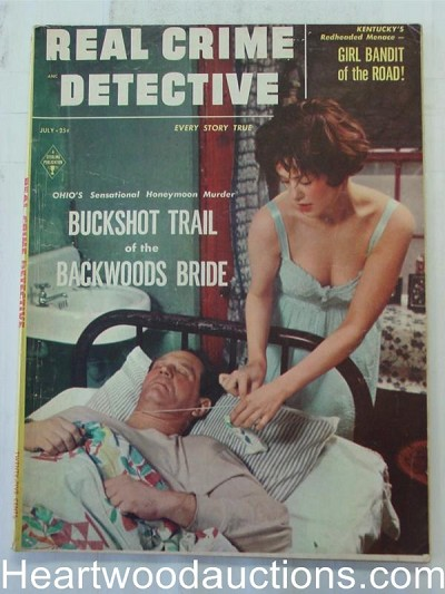 """Real Crime Detective"" July 1955 Bad Girl Cover"