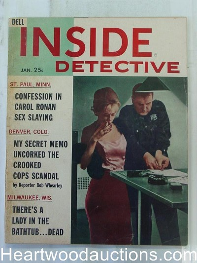 """Inside Detective"" January 1982 Bad Girl Cover"