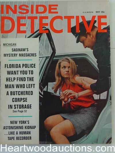 """Inside Detective"" May 1967 Bad Girl Cover"