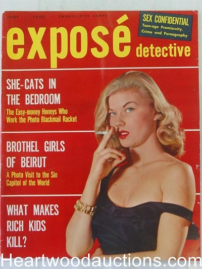 """Expose Detective"" June 1957  Woman Smoking Cover"