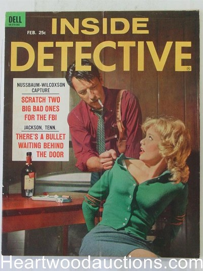 """Inside Detective"" February 1963 Bondage Cover"