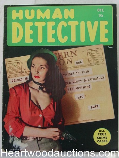 """Human Detective"" October 1949 Bad Girl Cover"