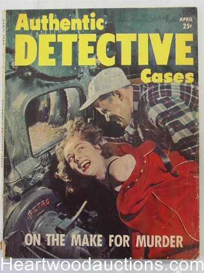 """Authentic Detective"" April 1952 Assault Cover"