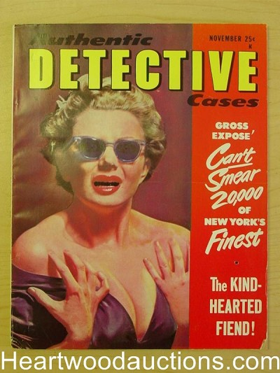"""Authentic Detective"" November 1952 HG Newsstand Fresh"