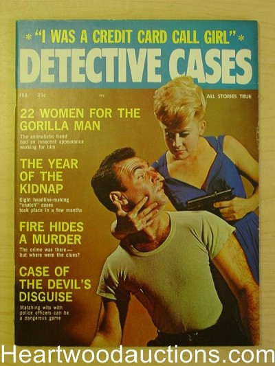"""Detective Cases"" February 1964 Bad Girl Cover"