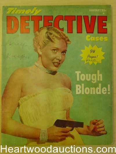 """Timely Detective Cases"" January 1952 Bad Girl Cover"