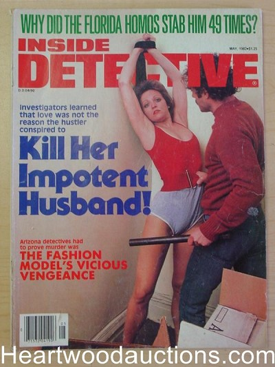 """Inside Detective"" May 1982 Bondage Cover"