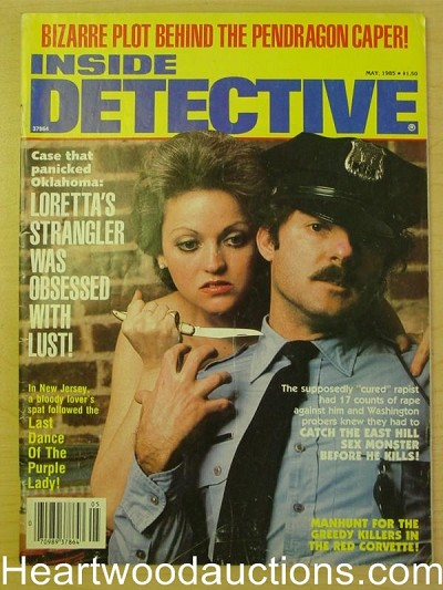 """Inside Detective"" May 1985 Bad Girl Cover"