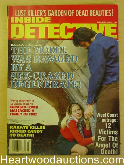 """Inside Detective"" February 1985 Assault Cover"