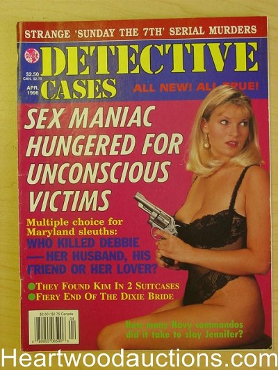 """Detective Cases"" April 1996 Bad Girl Cover"
