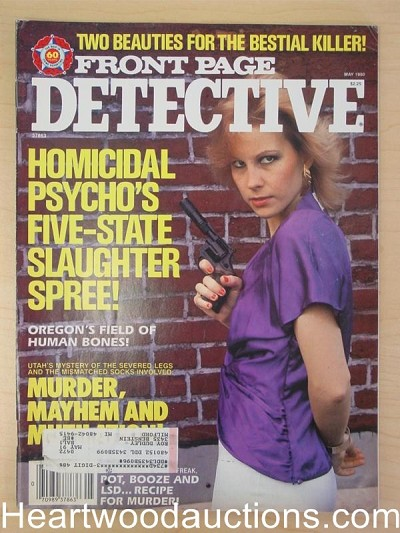 """Front Page Detective"" May 1990 Bad Girl Cover"