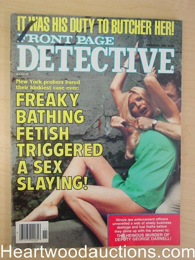 """Front Page Detective"" November 1983 Bondage Cover"