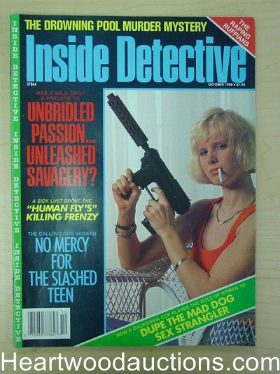 """Inside Detective"" October 1988 Bad Girl Cover"