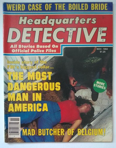 """Headquarters Detective"" November 1982 Assault Cover"