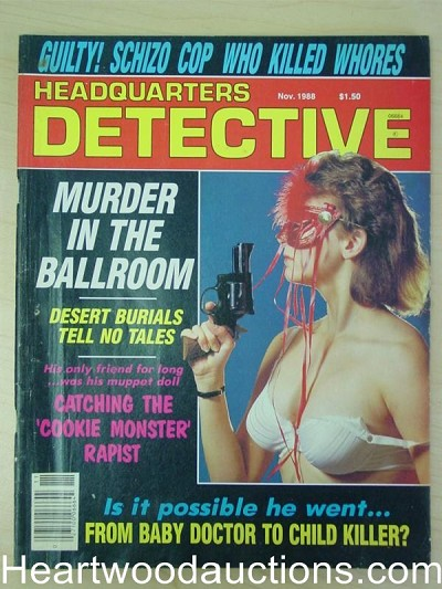 """Headquarters Detective"" November 1988 Bad Girl Cover"