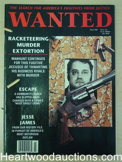 """Wanted"" March 1989"