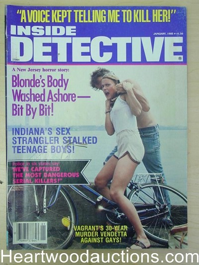 """Inside Detective"" January 1985 Assault Cover"
